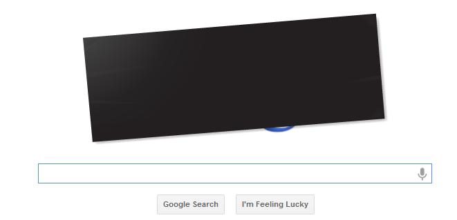 google logo  blackout